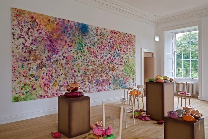 Installation view, Dan Colen, 'The Illusion of Life'. Photograph by Michael Wolchover. Courtesy of Dan Colen and Gagosian Gallery, London.