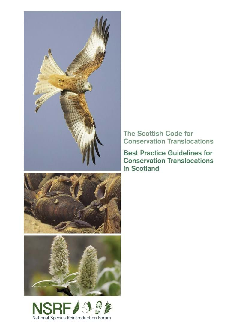 Scottish Code for Translocations front cover
