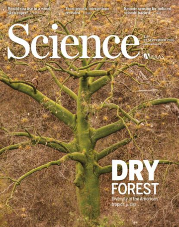The front cover of Science, highlighting RBGE work on Tropical Dry Forests