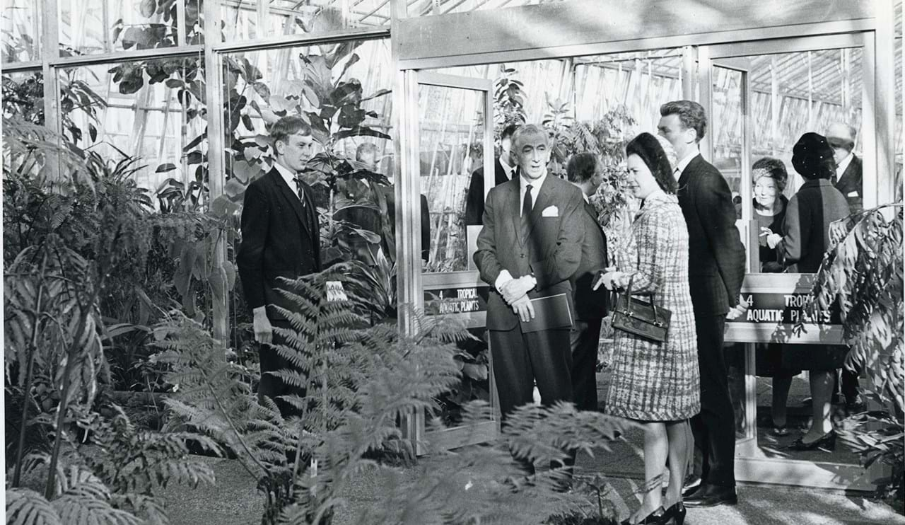 Princess Margaret in the Fern House  at the Exhibition opening (1968)