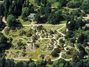 Aerial view of the Rock Garden