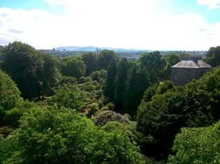 Aerial view of the Garden and Edinburgh in the distance
